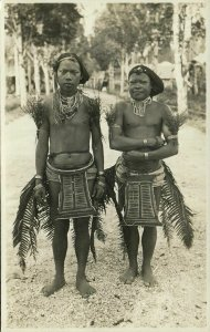 indonesia, MENTAWAI MENTAWEI, Native Males, Necklace Jewelry Tattoo (1920s) RPPC