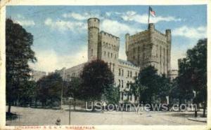 Armory Niagara Falls NY 1917 Missing Stamp