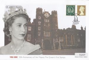 St James Palace Queen Elizabeth II Golden Jubilee Rare Stamp 50th Anniversary...