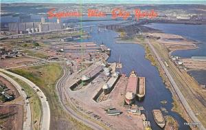 1950s Aerial View SUPERIOR WISCONSIN Dry Docks Gallaghers postcard 2006