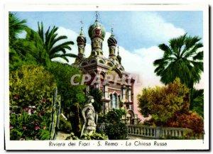 Postcard Modern Riviera Remo La Chiesa Russa