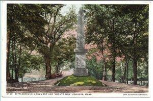 Concord, MA - Battleground Monument and Minute Man - Early 1900s
