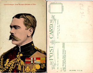 Lord Kitchener Great Britains Minister of War Postcard Used (36538)