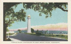 BILOXI , Mississippi, 1930s-40s ; LIGHTHOUSE