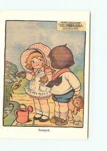 Buy Postcard Home Magazine Drayton Children Children Gardeneing Postcard