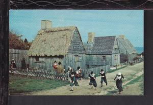 Replica Pilgrim Village,Plymouth,MA Postcard BIN
