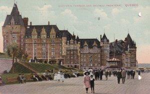 QUEBEC, Canada, PU-1912; Dufferin Terrace & Chateau Frontenac