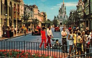 Walt Disney World , 01110201, Main Street, U.S.A., WDW, Vintage Postcard