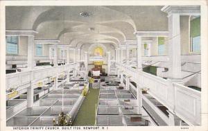 Rhode Island Newport Interior Trinity Church 1926