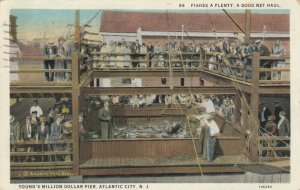 ATLANTIC CITY, New Jersey, 10-20s; Young's Million Dollar Pier, Fishes A Plenty