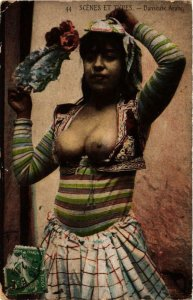 PC CPA Scenes et Types Danseuse arabe North Africa FEMALE ETHNIC NUDE (a9921)