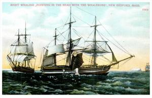 18801   Right Whaling, Hoisting the Head with the Whalebone