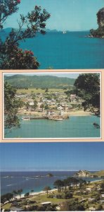 Whitianga Hahei Coromandel Peninsula New Zealand 3x Postcard s