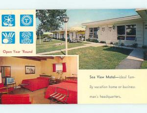 Unused Pre-1980 SEA VIEW MOTEL Glen Cove Maine ME s5191