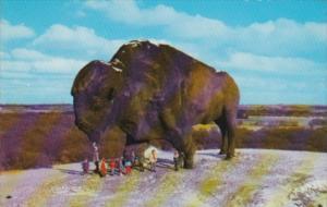North Dakota Jamestown The World's Largest Buffalo 1968