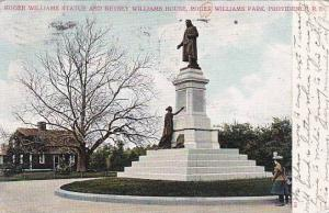 Rhode Island Providence Roger Williams Statue And Betsey Williams House Roger...