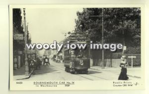 pp1757 - Bournemouth Tram no 14 in Westbourne 1909 - Pamlin postcard