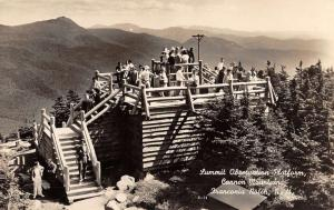 Franconia Notch New Hampshire Summit Observation Real Photo Antique PC K22540