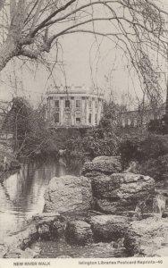 New River Walk Islington Rare Library Postcard