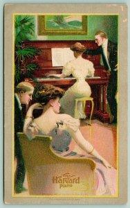 Cincinnati Ohio~Harvard Piano~Victorians in Parlor~Ladies Artist~'07 Advertising