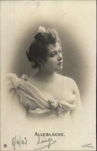 Beautiful Woman ALLEBLACHE c1900 Real Photo Postcard