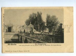 151916 Germany ALT BERLIN Konigsbrucke Vintage PC