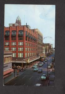 IA Walnut St Street State Capitol Younkers Dept Store Des Moines Iowa Postcard