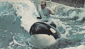 Riding a Whale, Orca Shamu, Sea World, San Diego, Califonia, 1960s