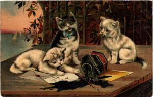 CATS PC Kittens and ink (a2161)