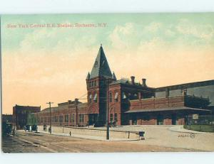 Divided-Back NEW YORK CENTRAL TRAIN DEPOT STATION Rochester New York NY G1441