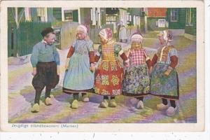 Netherlands Maraken Jeugdige eilandbewoners Children In Traditional Costume 1926