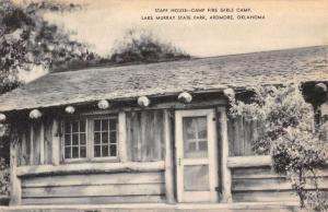 Ardmore Oklahoma Lake Murray State Park Staff House Antique Postcard K92240