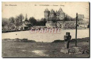 Old Postcard Combourg Chateau Pond