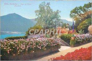 Postcard Old Villa Carlotta Lake Como Giardino