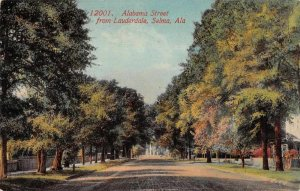 Selma Alabama Alabama Street from Lauderdale Street Scene Postcard JE359697