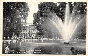 Fountain   Bruxelles Brussel Postcard 1958