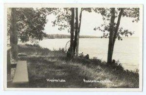 RPPC, Higgins Lake near Roscommon, Michigan, MI,  1947  Real Photo
