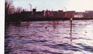 Auburn Parking across Longley Bridge, Great Flood of 1987 , AUBURN , Maine