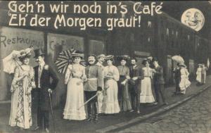 Geh'n wir noch in's Café eh der Morgen graut! Postcard 02.67