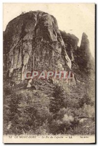 Old Postcard Le Mont Dore The peak of the Capuchin