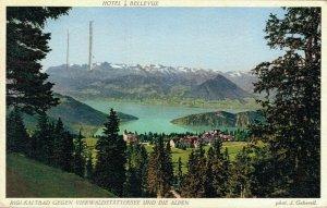 Switzerland Hôtel Bellevue Rigi Kaltbad gegen Vierwaldstättersee und Alpen 03.37
