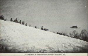 Woodstock VT Sledding 75 Foot Jump Bourdon Bros c1910 Postcard