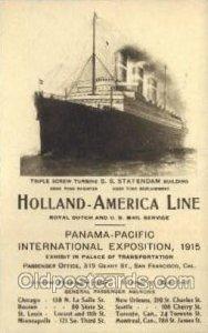 SS Statendam Holland - America Line, Steamer, Steam Boat, Ship Unused
