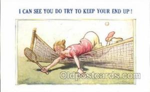 Tennis Old Vintage Antique Postcard Post Cards