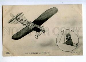 205222 AVIATION Bleriot airplane pilot LEBLANC #200 old
