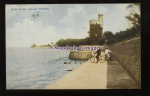 h1892 - Isle of Wight - Couple walking towards Appley Tower, Ryde - postcard