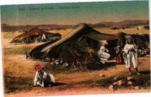 CPA TUNISIE Scenes & Types-Gourbi Arabe (268941)