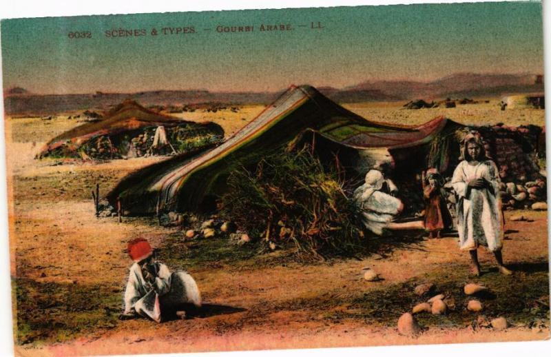 CPA TUNISIE-Scénes & Types-Gourbi Arabe (268941)