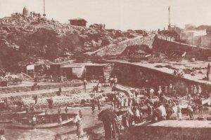 Old Harbour Hermanus in 1930s South Africa Postcard