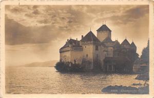 B4316 Switzerland Chateau de Chillon 1912    front/back scan